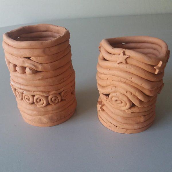 Portalápices de cerámica