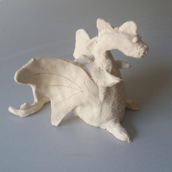 Dragón de cerámica